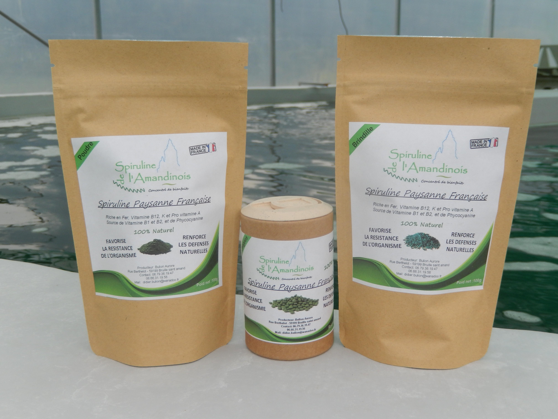 Les produits de la spiruline de l'amandinois
